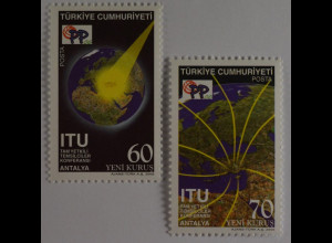 Türkei 2006, Mi-Nr. 3555-56, Konferenz der Internationalen Fernmeldeunion (ITU)