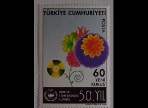 Türkei Turkey 2006, Mi.Nr. 3558, 50 Jahre türkische Atomenergiebehörde, Blumen