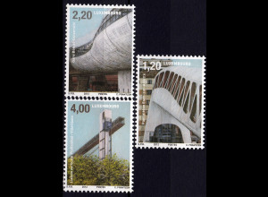 Luxemburg 2012 Michel Nr. 1949-51 Architektur und Mobilität Aufzug