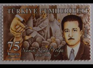 Türkei Turkey 2009, Michel Nr. 3778, 95. Geburtstag von Namik Kemal Yolga