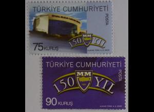 Türkei 2009, Mi-Nr. 3783-84, 150 Jahre Fakultät für politische Wissenschaften