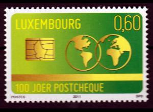 Luxemburg 2011 Michel Nr. 1925 100 Jahre Postgirokonto Scheckkarte