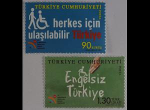 Türkei Turkey 2011, Michel Nr. 3883-84, Woche der Menschen mit Behinderungen