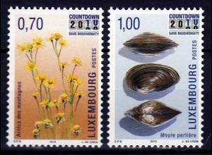 Luxemburg 2010 Michel Nr. 1857-58 Naturschutzinitiative Countdown 2010