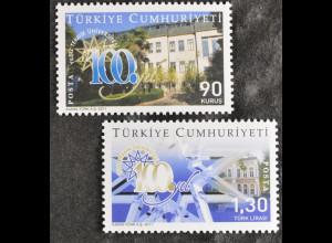 Türkei 2011, Mi-Nr. 3912-13, 100 Jahre Technische Universität Yildiz, Istanbul