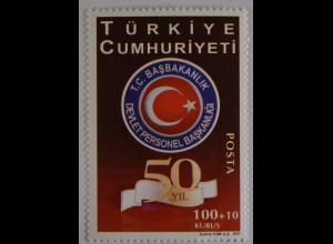 Türkei Turkey 2011, Michel Nr. 3924, 50 Jahre Staatlicher Personalvorstand