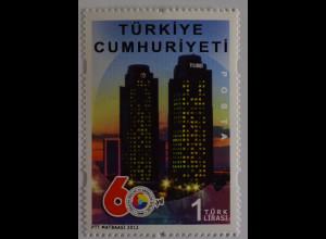 Türkei 2012, Mi-Nr. 3956, 60 J. Verband der türkischen Handelskammern und Börsen