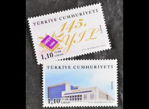 Türkei 2013, Michel Nr. 4059-60, 145 Jahre Staatsrat; Staatsgebäude in Ankara