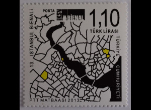 Türkei Turkey 2013, Michel Nr. 4069, Biennale für Kunst und Kultur, Istanbul