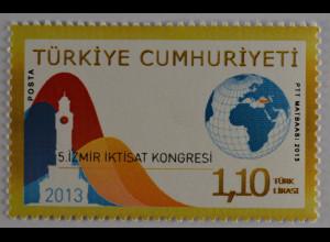 Türkei Turkey 2013, Michel Nr. 4078, 5. Wirtschaftskongress in Izmir