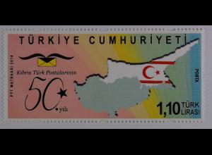 Türkei Turkey 2014, Michel Nr. 4083, 50 Jahre türkisch-zypriotische Post