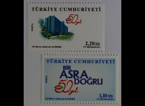 Türkei 2014, Mi-Nr. 4093-94, 50 Jahre Türkische Rundfunk- und Fernsehanstalt TRT