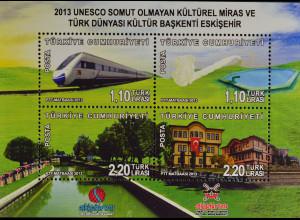 Türkei Turkey 2013, Block 97, Eskisehir- Kulturhauptstadt und UNESCO-Kulturerbe