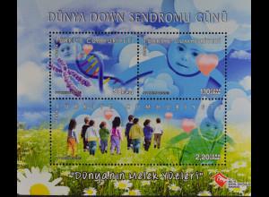 Türkei Turkey 2013, Block 98, Welt-Down-Syndrom-Tag; Kinderläscheln, ...