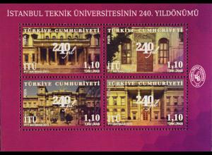 Türkei Turkey 2013, Block 102, 240 Jahre Technische Universität in Istanbul
