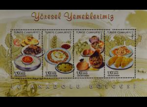 Türkei Turkey 2013, Block 105, Regionale Küche (II) Gerichte aus Zentalanatolien