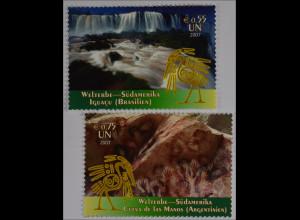 Vereinte Nationen UNO UN Wien 2007 Mi. Nr. 504-05 UNESCO Welterbe Südamerika