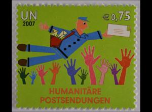 Vereinte Nationen UNO UN Wien 2007 Michel Nr. 512 Humanitäre Postsendung