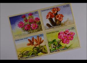Vereinte Nationen UNO UN Wien 2010 MiNr. 639-42 Gefährdete Arten Pflanzen Hoodia