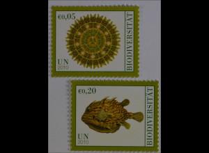 Vereinte Nationen UNO UN Wien 2010 MiNr. 643-44 Int. Jahr der Biodiversität