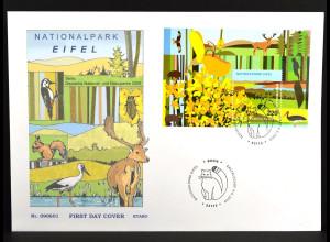 Bund BRD Ersttagsbrief FDC Block Nr. 74 Deutsche National- und Naturparks (IX)