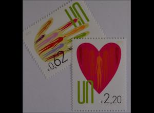 Vereinte Nationen UNO UN Wien 2013 Nr. 766-67 Freimarken Herz und Handfläche