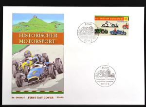 Bund BRD Ersttagsbrief FDC EW aus Block Nr. 75, Historischer Motorsport, 13.8.09