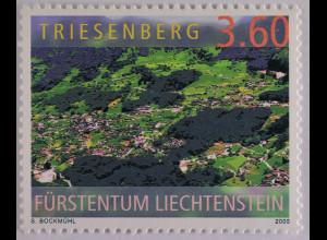 Liechtenstein 2005, Mi.Nr. 1369, Triessenberg; Luftaufnahme von Bruno Matt