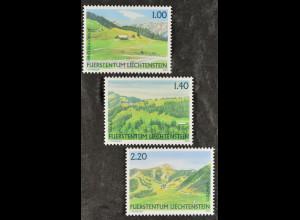 Liechtenstein 2007, Nr. 1451-53, Weidealpen: Hintervalorsch, Sücka, Guschgfiel
