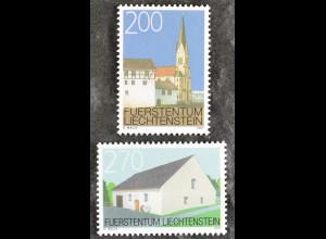 Liechtenstein 2007, 1467-68, Ortsbildschutz: St.-Martin-Kirche und Pfrundbauten