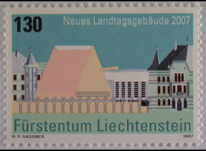 Liechtenstein 2007, Nr. 1469, Zeitgenössische Architektur, Landtagsgebäude Vaduz