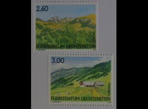 Liechtenstein 2008, Mi.Nr. 1473-74, Liechtensteiner Weidealpen: Guschg, Güschgle