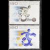 Liechtenstein 2008, Mi.Nr. 1487-88, Paralympische Spiele; Rollstuhl-Marathon ...