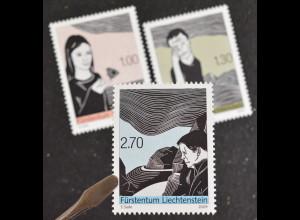 Liechtenstein 2009, Mi.Nr. 1509-11, Druckkunst - Kunstdruck, Der Linoschnitt