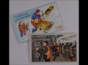 Liechtenstein 2013, Mi.Nr. 1665-66, Freiwillige Aktivitäten z.Bevölkerungsschutz