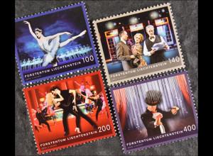 Liechtenstein 2013, Mi.Nr. 1686-89, Kunst: Tanz, Schauspiel, Musical, Kleinkunst