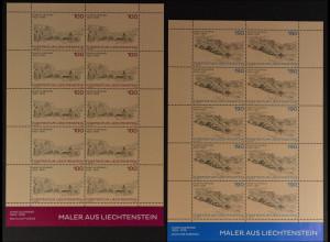 Liechtenstein 2013, Mi.Nr. 1669-70 Klbg., Federzeichnungen von Hans Kliemand
