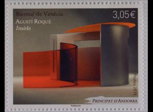 Andorra französisch 2015 Michel Nr. 791 Kunstausstellung Biennale Venedig