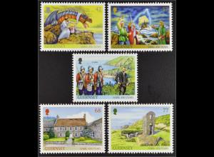 Guernsey 2015, Michel Nr. 1533-37, SARK - 450 Jahre Lehen an die Krone