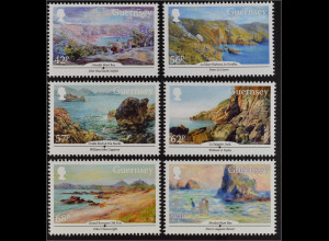 Guernsey 2015, Michel Nr. 1527-32, Künstler Guernsey´s, Gemälde, Aquarelle