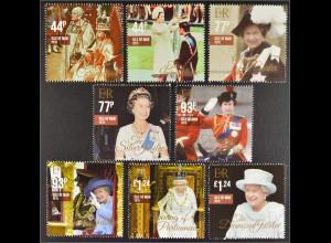 Insel Man, Isle of Man 2015, Michel Nr. 2053-60, Herrschaft Königin Elisabeth II