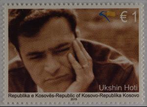 Kosovo 2015 Michel Nr. 315 72. Geburtstag von Ukshin Hoti 1999 verschwunden