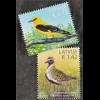 Lettland Latvia 2015, Michel Nr. 947-48, Vögel, Fauna, Pluvialis Apricaria ...
