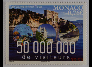 Monako Monaco 2015, Michel Nr. 3248, Ozeanografisches Museum, 50 Mill. Besucher