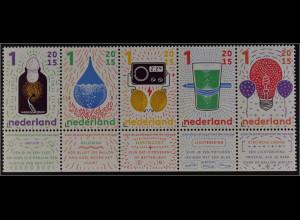 Niederlande Netherlands 2015 Michel Nr. 3366-70 Wunder der Wissenschaft ZD
