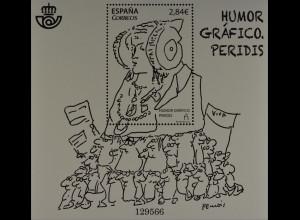 Spanien Spain España 2015, Block 268, Karikaturen / Peridis, Gez. Humor