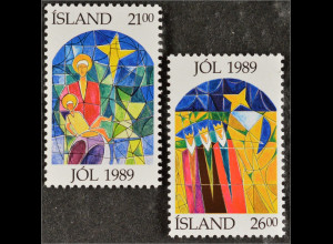Kirchenfenster von Johannes Johannesson *1921 Briefmarken aus Island