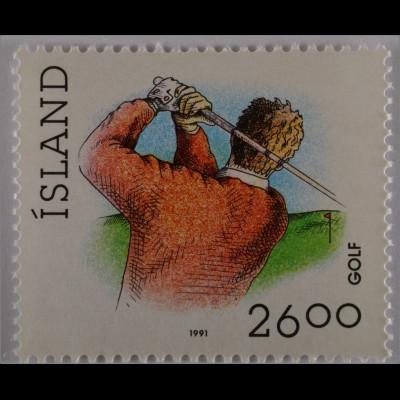 Sport Briefmarken aus Island Golf und Glima Ringen