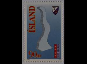 Island 1995 Michel Nr. 818 100 Jahre Stadt Seyoisfjorour