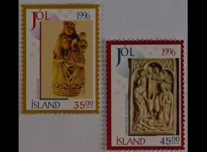 Weihnachten Presthólar Breidabólssadur Briefmarken aus Island